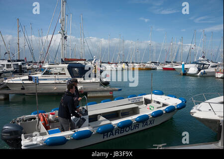 Harbour taxi, Yarmouth, Isle of Wight - Stock Photo