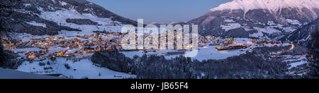 Fiss Panorama during blue hour - Stock Photo