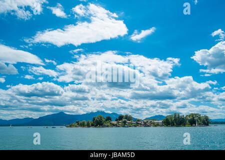 Insel Frauenchiemsee, Chiemgau, Bayern, Germany - Stock Photo