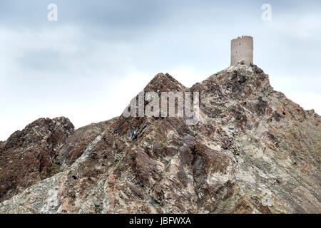 Picture of a historic tower in Muscat, Oman - Stock Photo