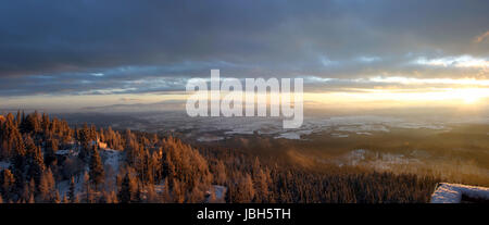 Sunrise on the Tatar mountains in Slovakia. - Stock Photo