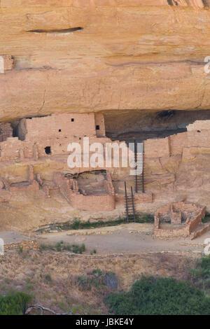 Long House Ruins, Mesa Verde National Park, UNESCO World Heritage Site, Colorado, USA - Stock Photo