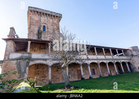 Monterrey Castle, fortress and palace, Ourense province, Galicia, Spain - Stock Photo