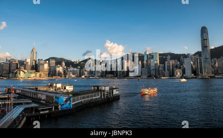 Aerial of central district, Hong Kong, China. - Stock Photo