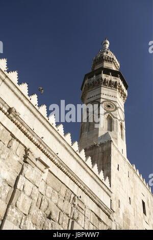 Asien, Naher Osten, Syrien, Damaskus,   Die Omaijad Moschee im Souq und Altstadt von Damaskus in der Hauptstadt - Stock Photo