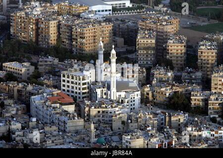 Asien, Naher Osten, Syrien, Damaskus,   Sicht ueber die Grossstadt von Damaskus der Hauptstadt von Syrien. - Stock Photo