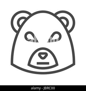 Bear Market Thin Line Vector Icon. Flat icon isolated on the white background. Editable EPS file. Vector illustration. - Stock Photo