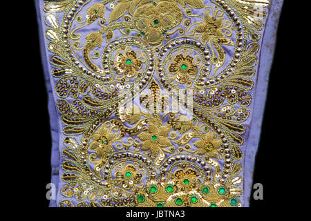 Detail of a traje de luces, the costum of a torero, Spain - Stock Photo