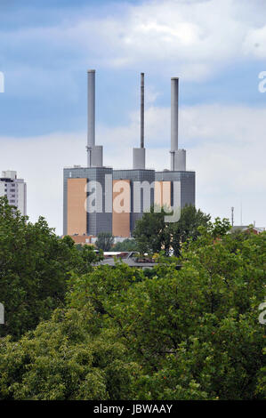 heating power plant hannover-linden - Stock Photo