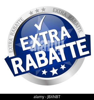 Button - Extra Rabatte Vector - Stock Photo