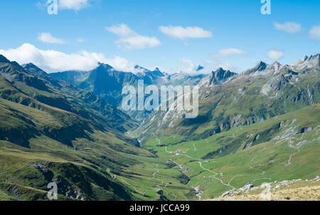 VILLE DES GLACIERS, FRANCE - AUGUST 27: Ville des Glaciers with Les Chapieux in the background. The region is a - Stock Photo
