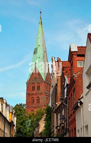 St. Aegidien Kirche Lübeck Deutschland / Church of St. Aegidien Lübeck Germany - Stock Photo