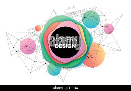 Colourful brochure flyer modern design template. Vector illustration - Stock Photo