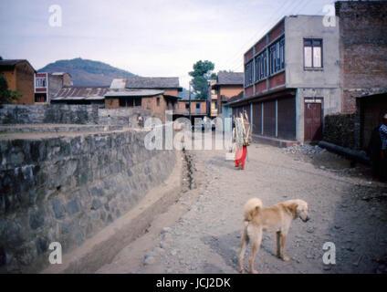 Reportage Nepal 1980. Pokhara - Stock Photo