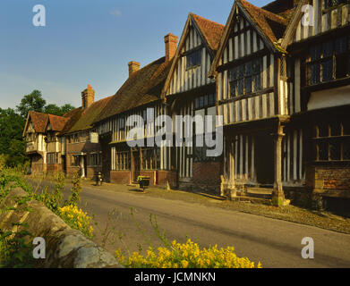 Chiddingstone village, near Edenbridge, Kent England - Stock Photo