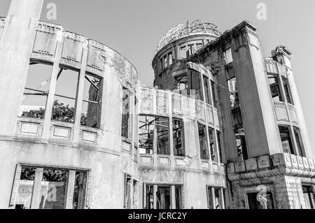 Genbaku Dome at Hiroshima Peace Memorial Park - Stock Photo