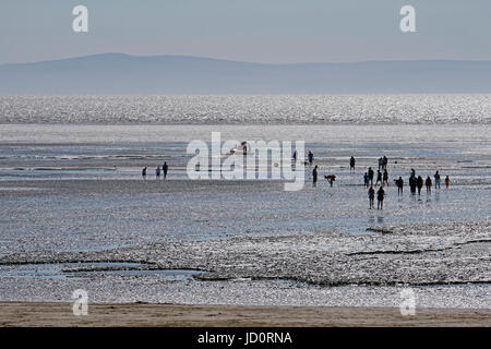 Weston-super-Mare, UK. 17th June, 2017. A search and rescue hovercraft operated by BARB (Burnham Area Rescue Boat) - Stock Photo
