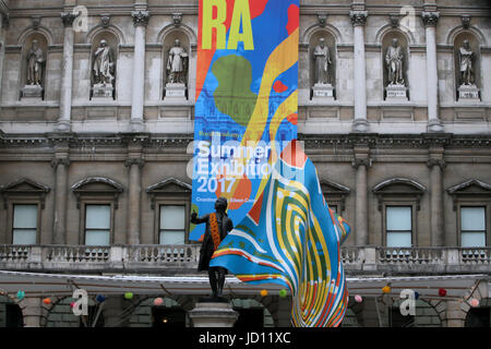 London UK 18 June 2017 The Royal Academy of arts  Summer Exhibition is open@Paul Quezada-Neiman/Alamy Live News - Stock Photo