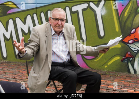 June 18, 2017 - London, UK - London, UK. 18th June 2017. Ted Knight, former leader of Lambeth Council, spoke in - Stock Photo
