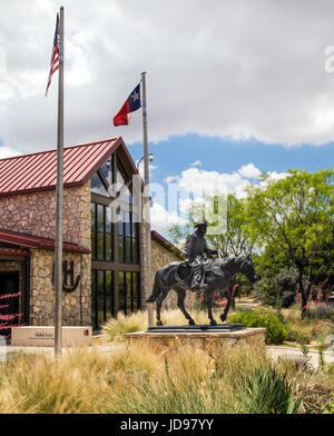 National Ranching Heritage Center entrance and museum in Lubbock, Texas - Stock Photo
