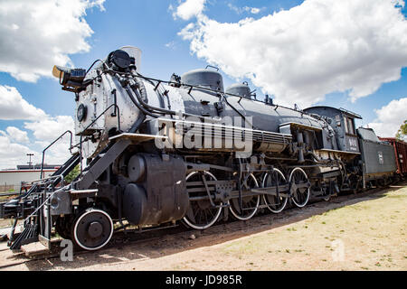 Baldwin locomotive at the National Ranching Heritage Center, Lubbock, Texas - Stock Photo