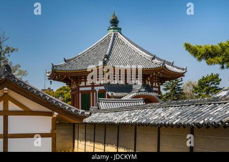 The  Kōfuku-ji Buddhist temple complex in Nara, Nara Prefecture, Honshu Island, Japan. - Stock Photo