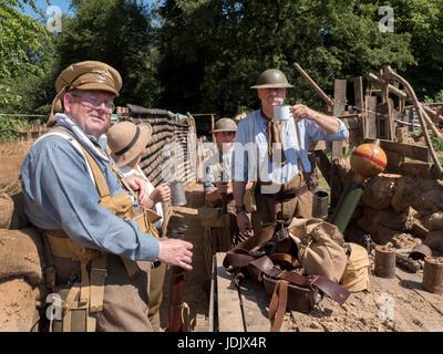 Military re enactment groups at Quex Park Military show Birchington Kent 17/06/2017 - Stock Photo