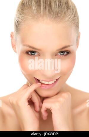 blond woman - Stock Photo