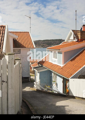 The small town of Fjallbacka on the west coast of Sweden, a holiday destination - Stock Photo