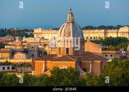 San Giovanni dei Fiorentini church in Rome, Italy - Stock Photo