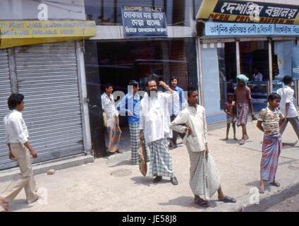 Reportage Bangla Desh 1980. Dhaka, bus terminal - Stock Photo