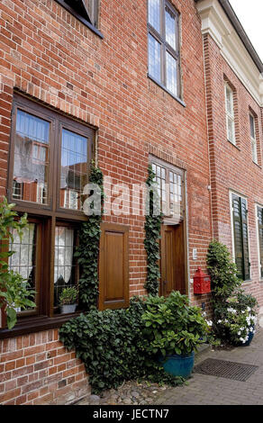 Germany, Brandenburg, Potsdam, Dutch fourth, brick building, outside, town, town fourth, residential district, residential - Stock Photo