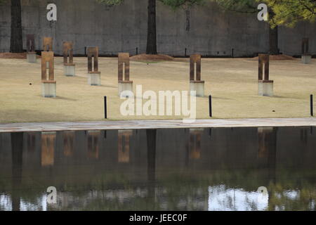 Field of Empty Chairs Memorial - Stock Photo