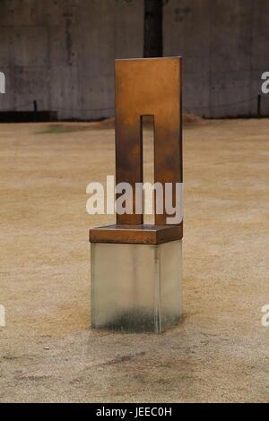 Oklahoma City Memorial Empty Chair - Stock Photo
