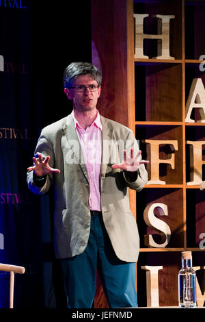 ALEC RYRIE Professor of the History of Christianity at Durham University,   at the 2017 Hay Festival of Literature - Stock Photo