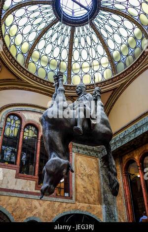 King Wenceslas Riding an Upside Down Horse - Stock Photo