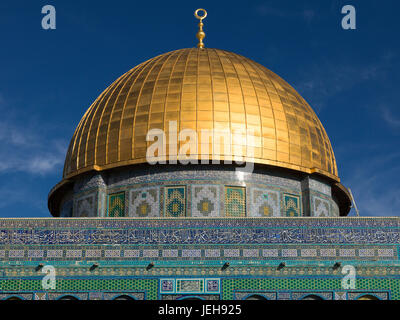 Temple Mount in the Old City of Jerusalem; Jerusalem, Israel - Stock Photo