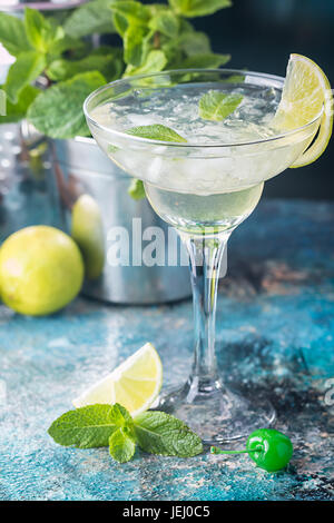 classic lime margarita cocktail - Stock Photo