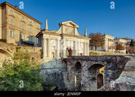 City gate, Bergamo. - Stock Photo