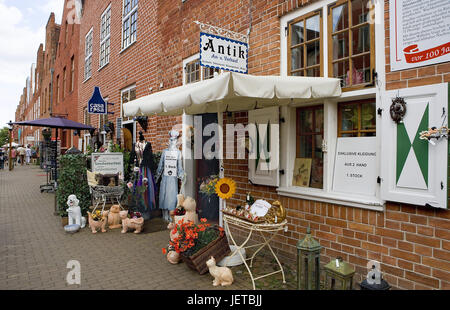 Germany, Brandenburg, Potsdam, Dutch fourth, classical art business, outside, town, town fourth, sidewalk, paving - Stock Photo