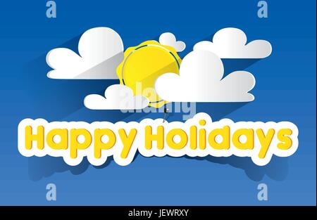 holiday, vacation, holidays, vacations, cloud, summer, summerly, delighted, - Stock Photo