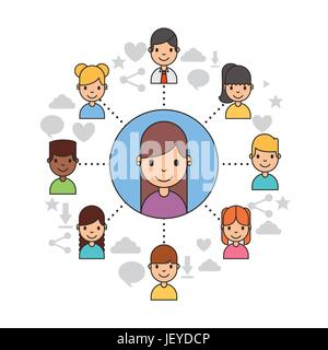 Applications people network - Stock Photo