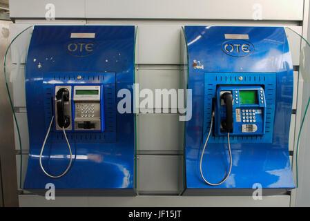 General view of the Metropolitan station at Eleftherios-Venizelos International Airport, Athens (Greece) - Stock Photo