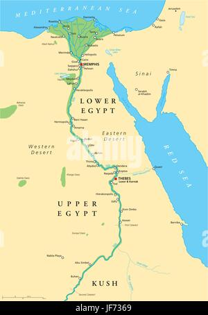 historical, africa, egypt, ancient, map, atlas, map of the world, nile, - Stock Photo
