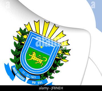 Mato Grosso do Sul Coat of Arms, Brazil. - Stock Photo
