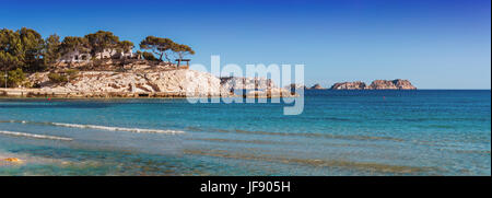 Panoramic views of the Bay of Paguera - Stock Photo