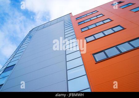Facade of modern building, close up - Stock Photo