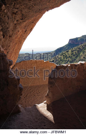 The Lower Cliff dwelling at Tonto National Monument, Arizona. - Stock Photo