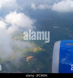 View from plane window - Stock Photo