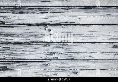 Old wooden white painted surface - Stock Photo